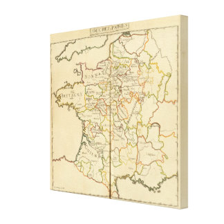 France and Boundaries Gallery Wrap Canvas
