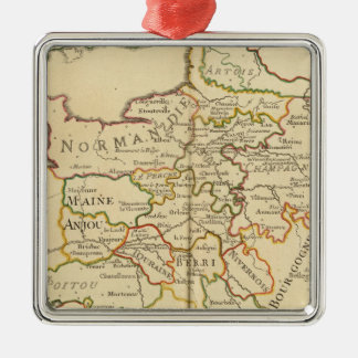 France and Boundaries Square Metal Christmas Ornament