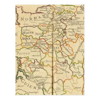 France and Boundaries Postcard