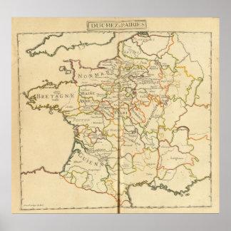 France and Boundaries Print