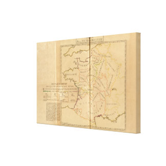 France and Departments Canvas Print