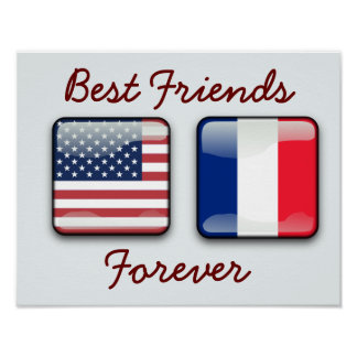 France and USA - poster