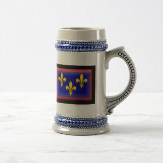 France-Anjou Flag Beer Stein