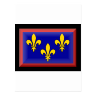 France-Anjou Flag Postcard