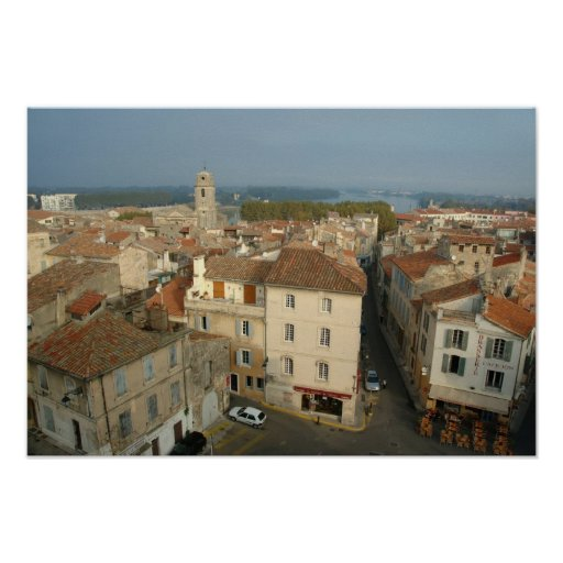 France, Arles, Provence, city view from Poster