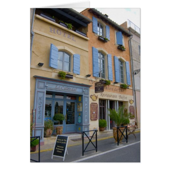France, Arles, Provence, hotel and restaurant Card