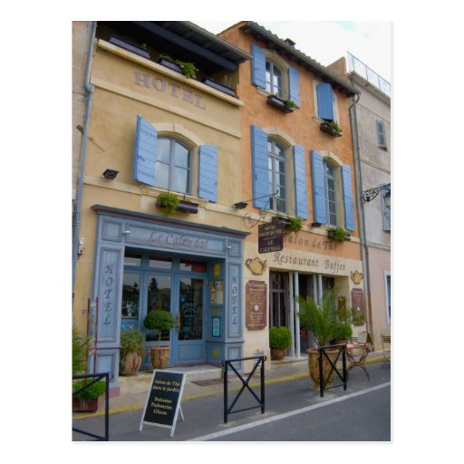 France, Arles, Provence, hotel and restaurant Post Card
