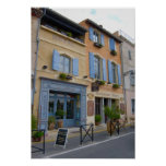 France, Arles, Provence, hotel and restaurant Poster