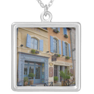 France, Arles, Provence, hotel and restaurant Silver Plated Necklace