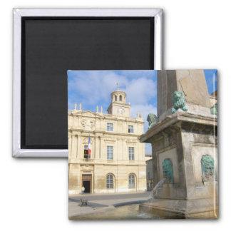 France, Arles, Provence, Place de la 2 Inch Square Magnet