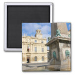 France, Arles, Provence, Place de la Refrigerator Magnet