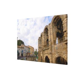 France, Arles, Provence, Roman amphitheatre Canvas Print