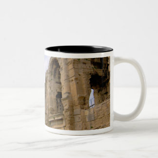 France, Arles, Provence, Roman amphitheatre Two-Tone Coffee Mug