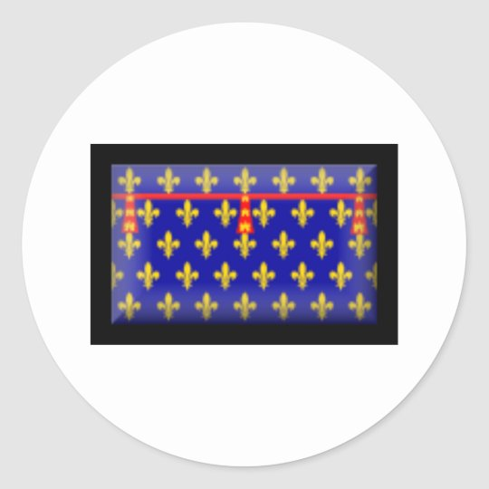 France-Artois Flag Classic Round Sticker