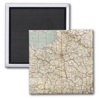 France Atlas Map 2 Inch Square Magnet