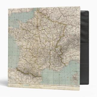 France Atlas Map 3 Ring Binder