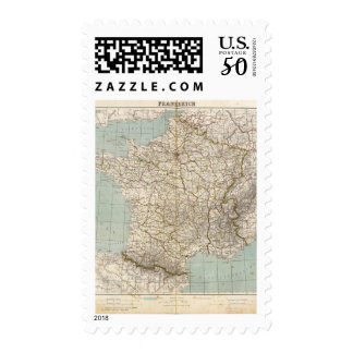 France Atlas Map Postage