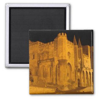 France, Avignon, Provence, Papal Palace at night 2 Refrigerator Magnet