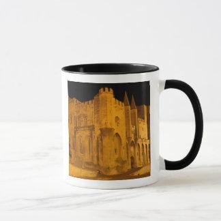 France, Avignon, Provence, Papal Palace at night 2 Mug