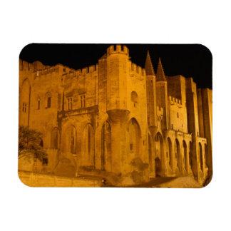 France, Avignon, Provence, Papal Palace at night 2 Rectangular Magnets
