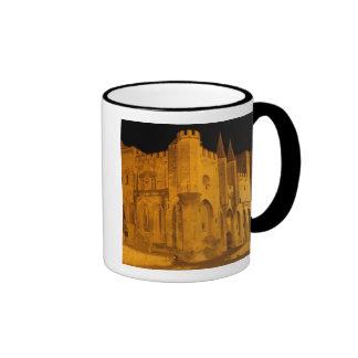 France, Avignon, Provence, Papal Palace at night 2 Ringer Mug