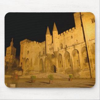 France, Avignon, Provence, Papal Palace at night Mouse Pad