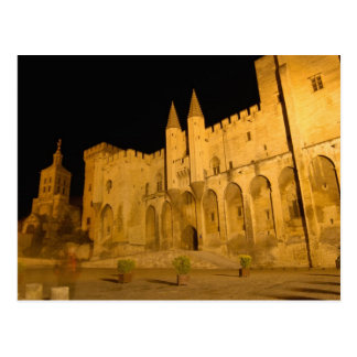France, Avignon, Provence, Papal Palace at night Postcard