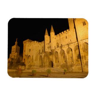 France, Avignon, Provence, Papal Palace at night Flexible Magnet