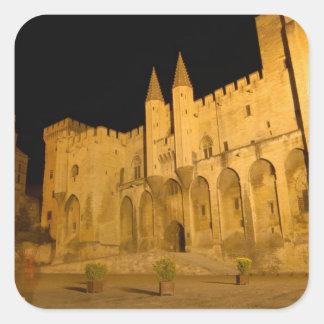 France, Avignon, Provence, Papal Palace at night Square Sticker