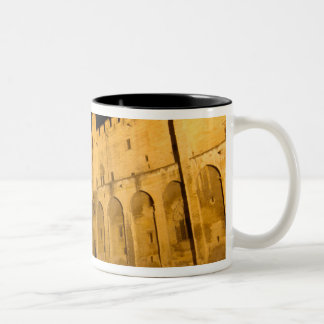 France, Avignon, Provence, Papal Palace at night Two-Tone Coffee Mug
