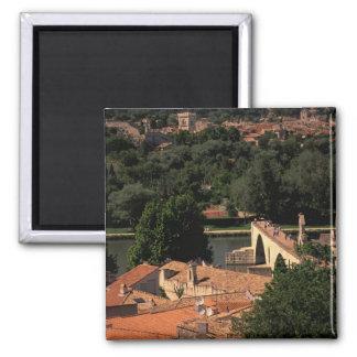 France, Avignon, Provence. Pont St, Benezet. 2 Inch Square Magnet