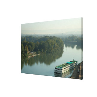 France, Avignon, Provence, Van Gogh riverboat Canvas Print