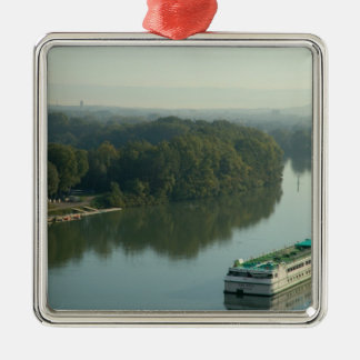 France, Avignon, Provence, Van Gogh riverboat Metal Ornament