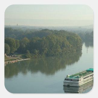 France, Avignon, Provence, Van Gogh riverboat Square Sticker