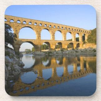 France, Avignon. The Pont du Gard Roman aqueduct Beverage Coaster