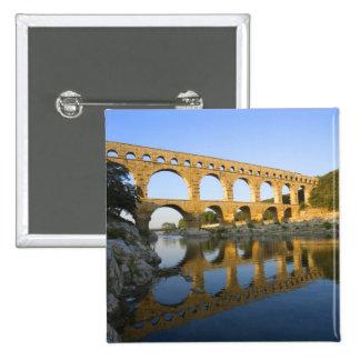 France, Avignon. The Pont du Gard Roman aqueduct Button