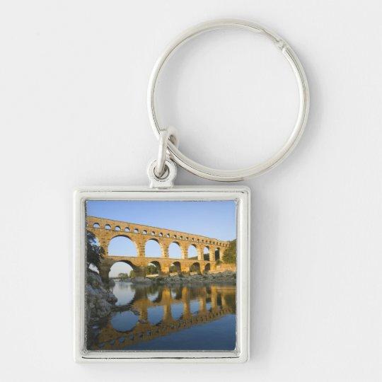 France, Avignon. The Pont du Gard Roman aqueduct Keychain