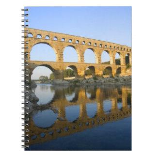 France, Avignon. The Pont du Gard Roman aqueduct Spiral Note Books