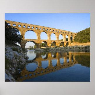 France, Avignon. The Pont du Gard Roman aqueduct Poster