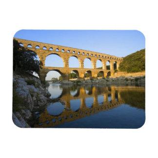 France, Avignon. The Pont du Gard Roman aqueduct Rectangular Photo Magnet