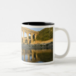 France, Avignon. The Pont du Gard Roman aqueduct Two-Tone Coffee Mug