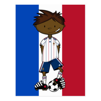 France Away Soccer Boy Card Postcard