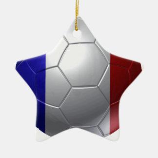 France ball ceramic ornament