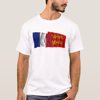 France & Basse-Normandie waving flags T-Shirt
