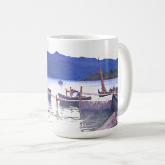 France Beach Boats Mediterranean Ocean Sea Mug