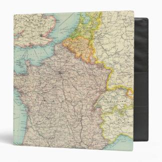 France, Belgium & Holland political 3 Ring Binder