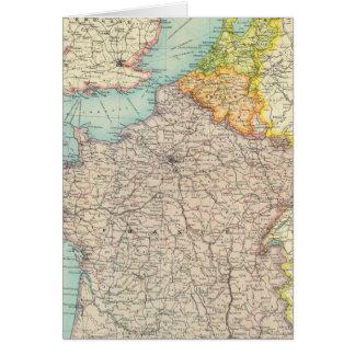 France, Belgium & Holland political Card