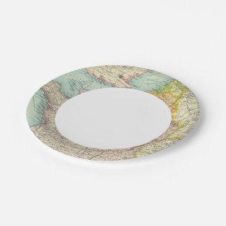 France, Belgium & Holland political Paper Plate