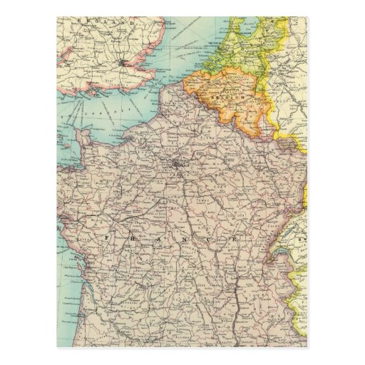 France, Belgium & Holland political Postcard