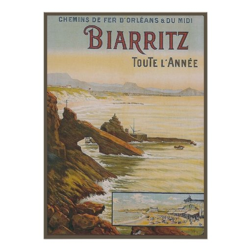 France Biarritz Poster